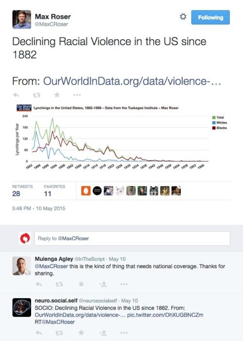 racial violence tweet1